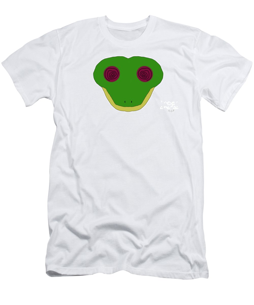 Impressionist Men's T-Shirt (Athletic Fit) featuring the digital art Hypno Frog by George Pedro