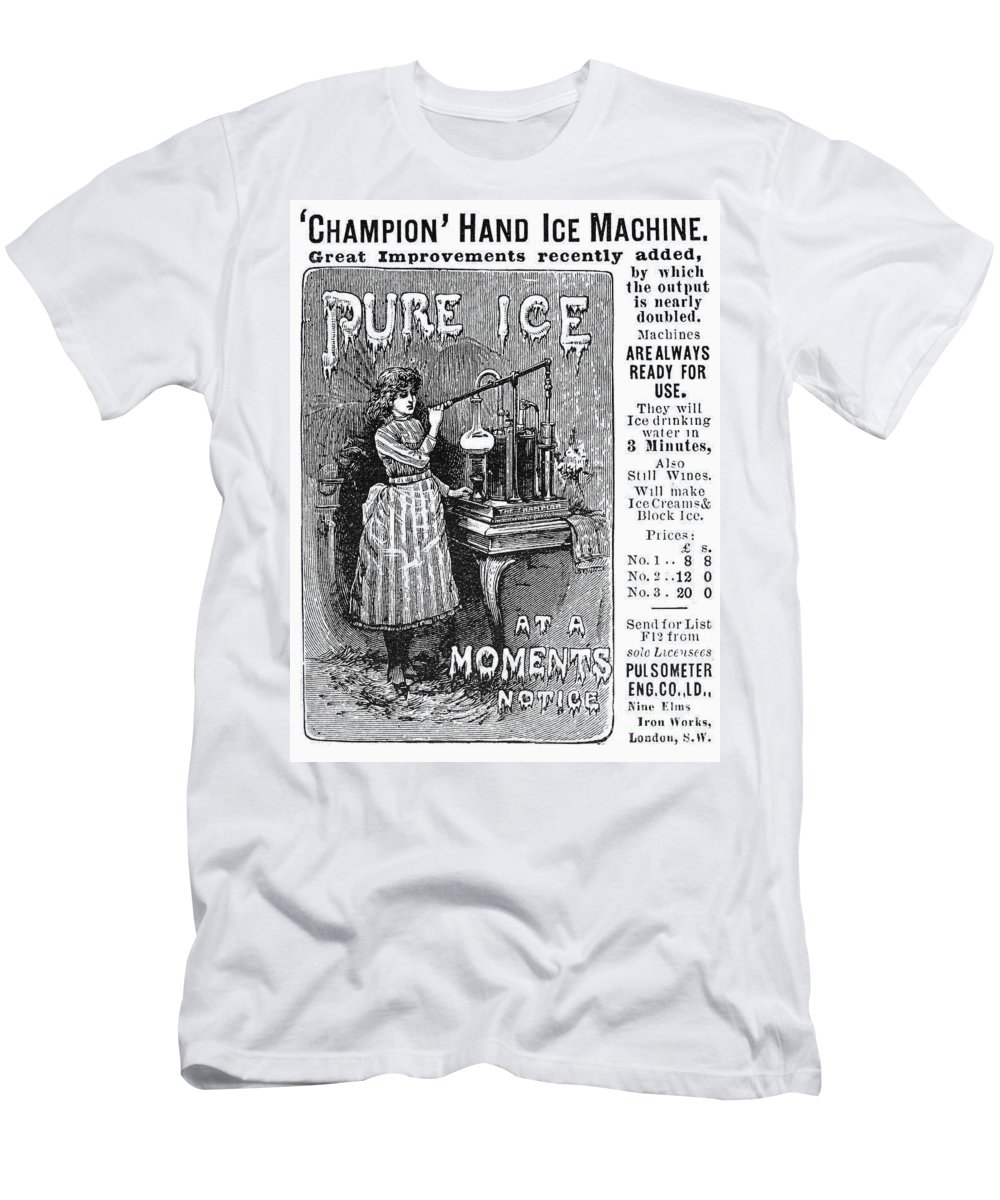 1891 Men's T-Shirt (Athletic Fit) featuring the photograph Ice Machine, 1891 by Granger