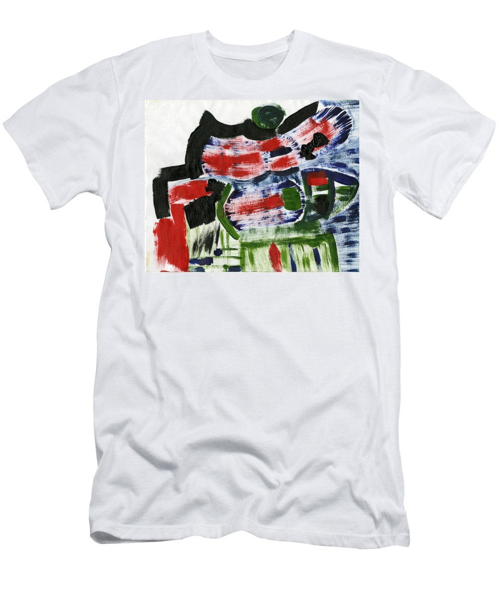 Idea Of Control Men's T-Shirt (Athletic Fit) featuring the painting Idea Of Control by Taylor Webb