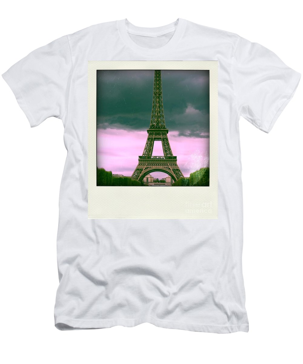 Attraction Men's T-Shirt (Athletic Fit) featuring the photograph Illustration Of Eiffel Tower by Bernard Jaubert