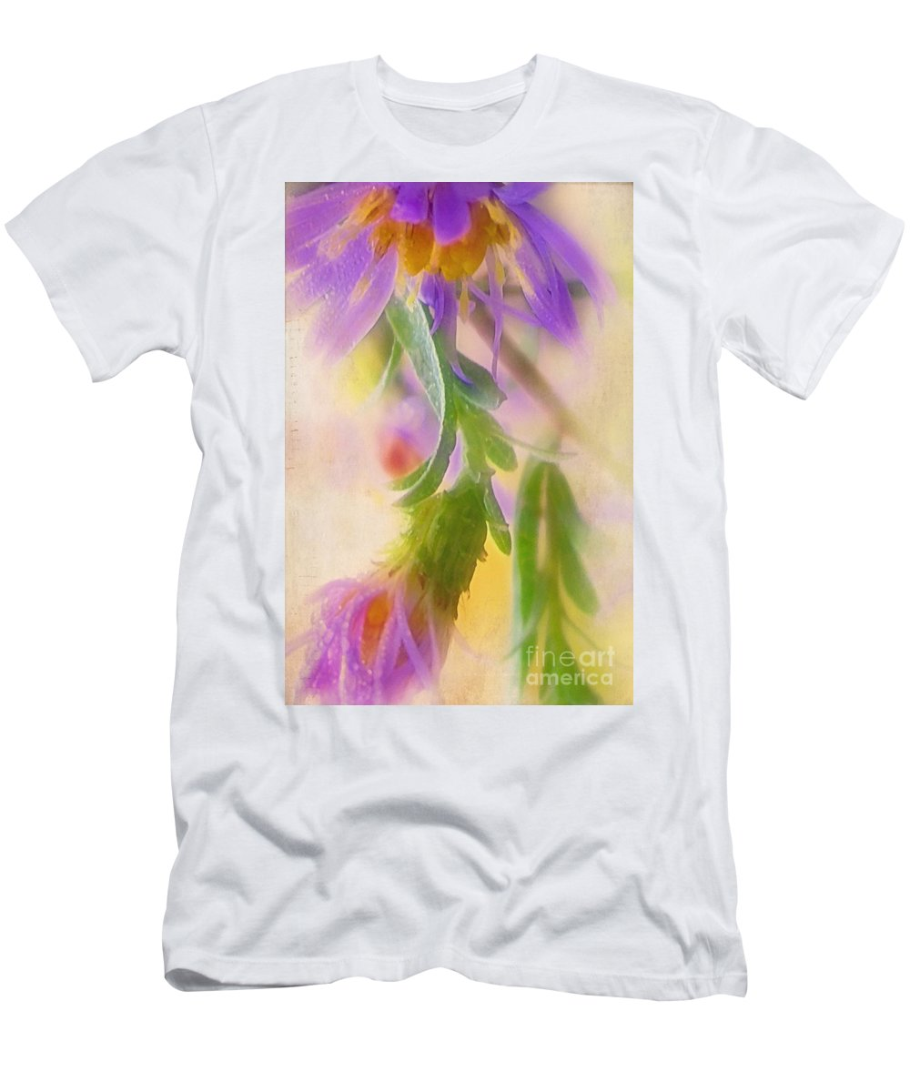 Aster Men's T-Shirt (Athletic Fit) featuring the photograph Impression Of Asters by Judi Bagwell