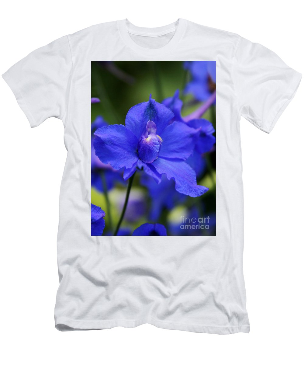 Blue Men's T-Shirt (Athletic Fit) featuring the photograph In A Blue Mood by Sabrina L Ryan