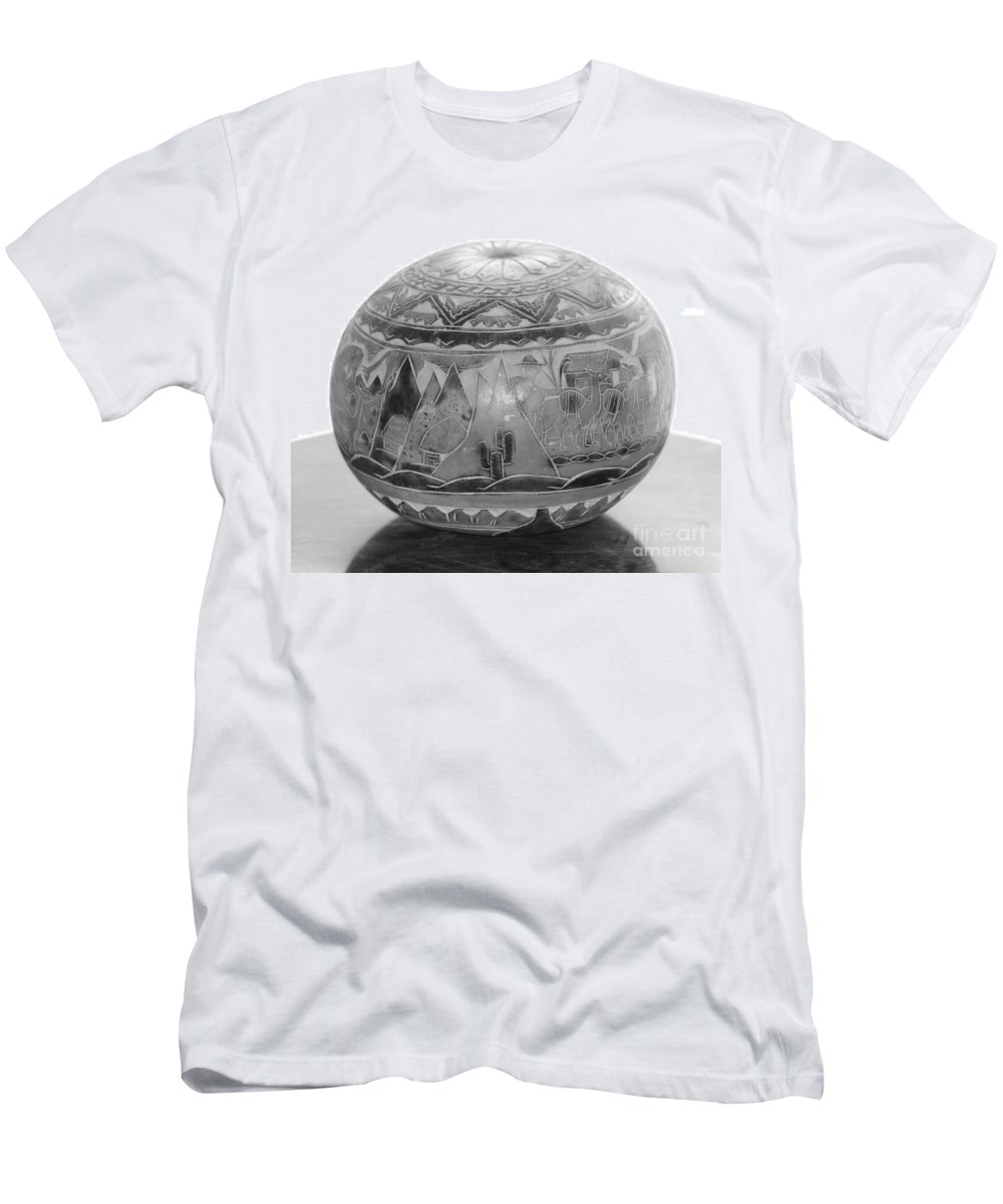 Indian Art Men's T-Shirt (Athletic Fit) featuring the photograph Indian Art by Michelle Powell