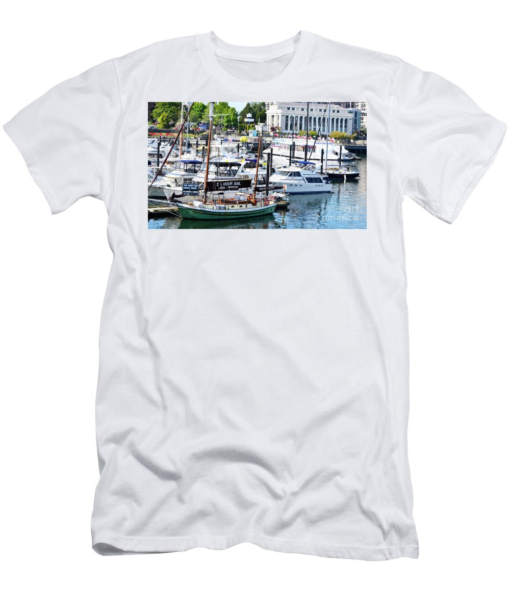 British Columbia Men's T-Shirt (Athletic Fit) featuring the photograph Inner Harbour by Traci Cottingham