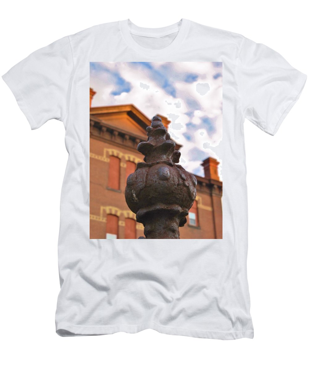 Old School House Men's T-Shirt (Athletic Fit) featuring the photograph Iron No More by Michele Nelson