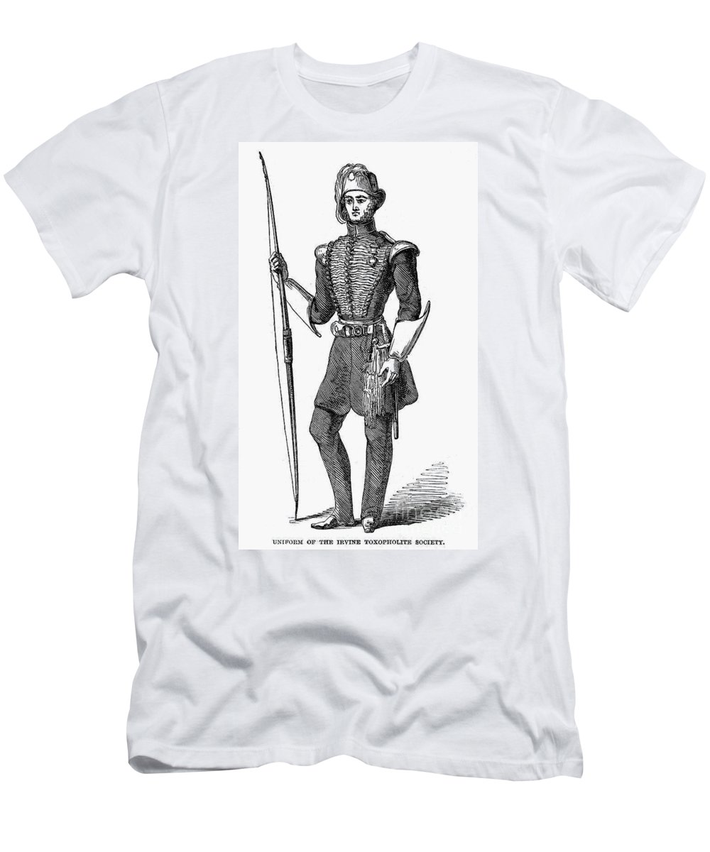 1846 Men's T-Shirt (Athletic Fit) featuring the photograph Irvine Toxophilite, 1846 by Granger