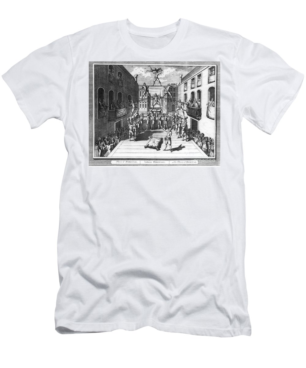 1722 Men's T-Shirt (Athletic Fit) featuring the photograph Italy: Acrobats, C1722 by Granger