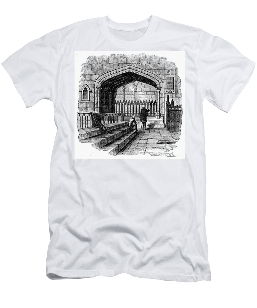 19th Century Men's T-Shirt (Athletic Fit) featuring the photograph James Watt: Tomb, 1819 by Granger