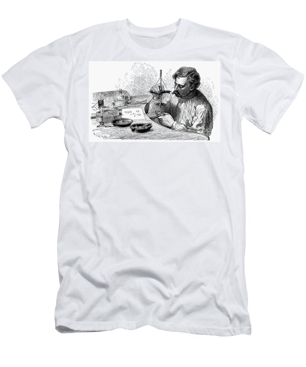 19th Century Men's T-Shirt (Athletic Fit) featuring the photograph Jeweler, 19th Century by Granger