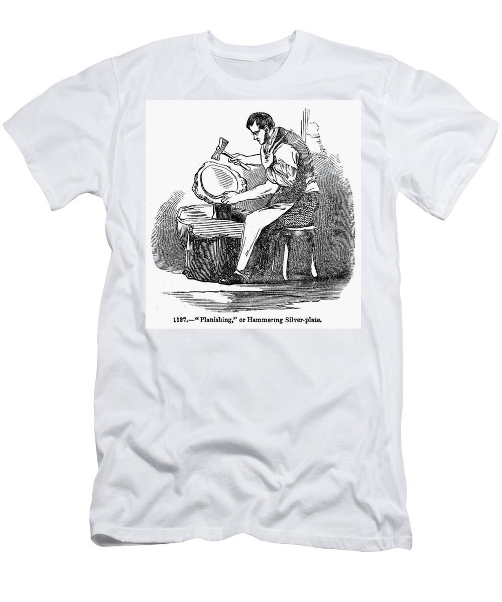19th Century Men's T-Shirt (Athletic Fit) featuring the photograph Jewelry: Planishing by Granger