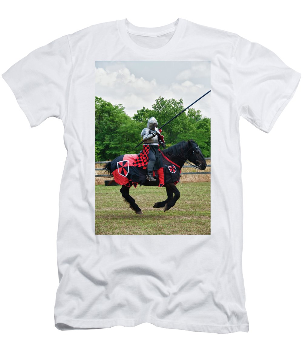 East Aurora Men's T-Shirt (Athletic Fit) featuring the photograph Joust 7516 by Guy Whiteley