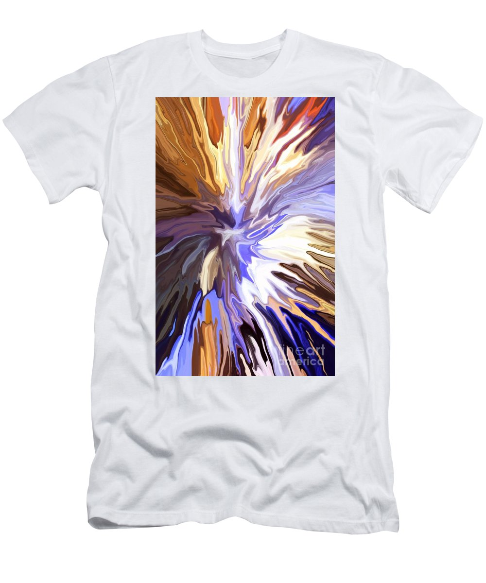 Abstract Men's T-Shirt (Athletic Fit) featuring the mixed media Just Abstract Iv by Chris Butler