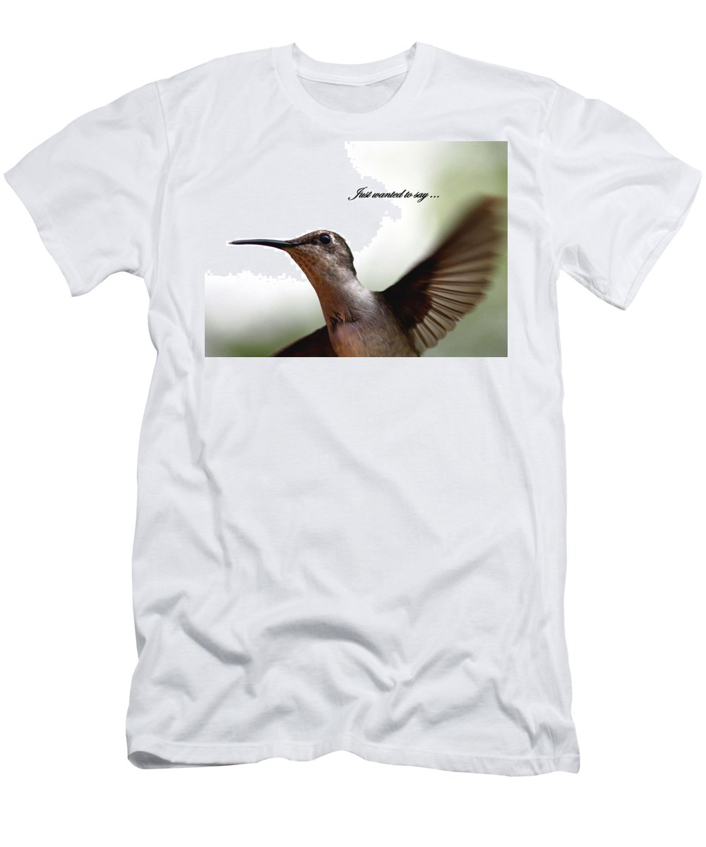 Just Wanted To Say Men's T-Shirt (Athletic Fit) featuring the photograph Just Wanted To Say.... by Travis Truelove