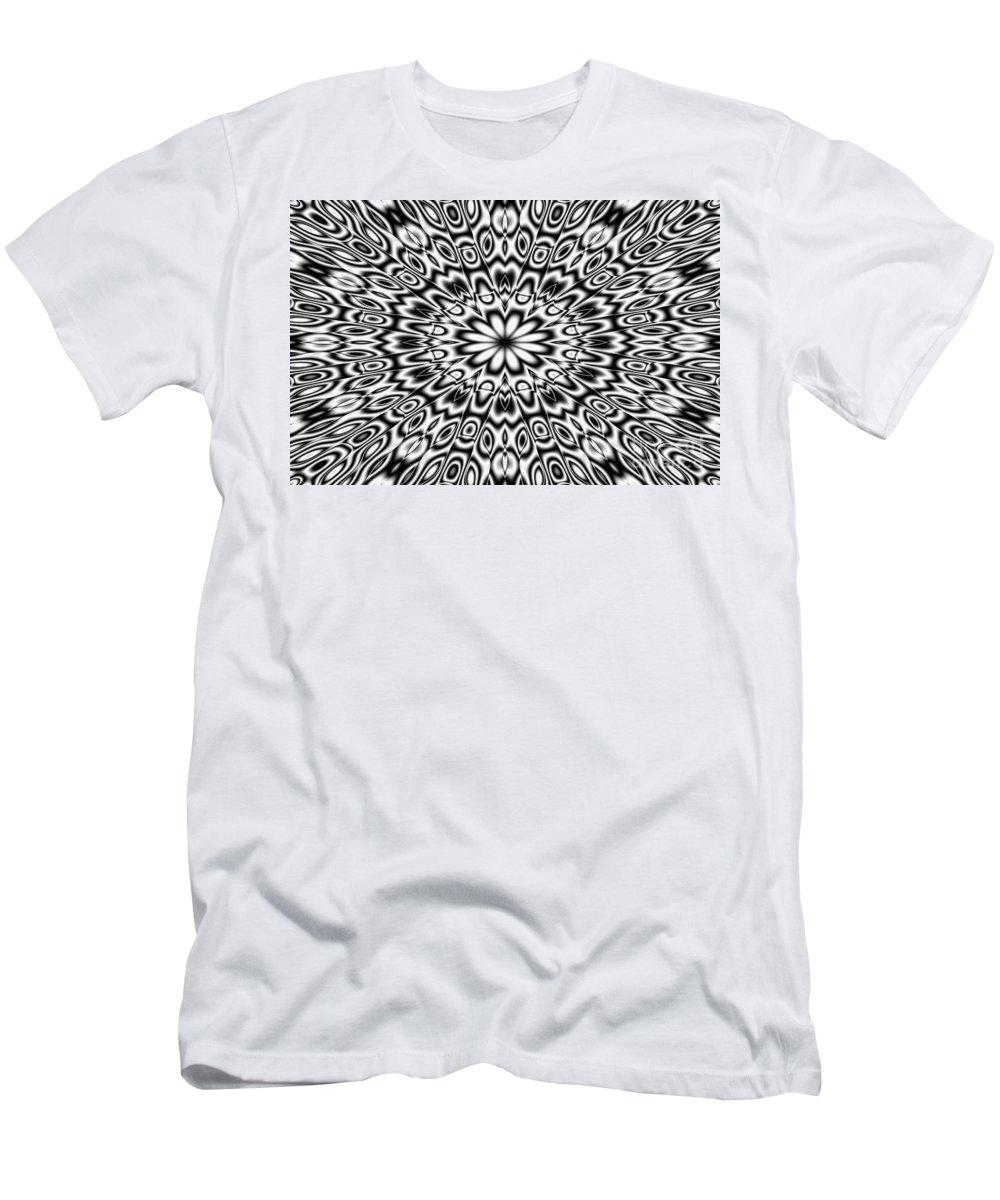 Ornament Men's T-Shirt (Athletic Fit) featuring the digital art Kaleidoscope by Michal Boubin