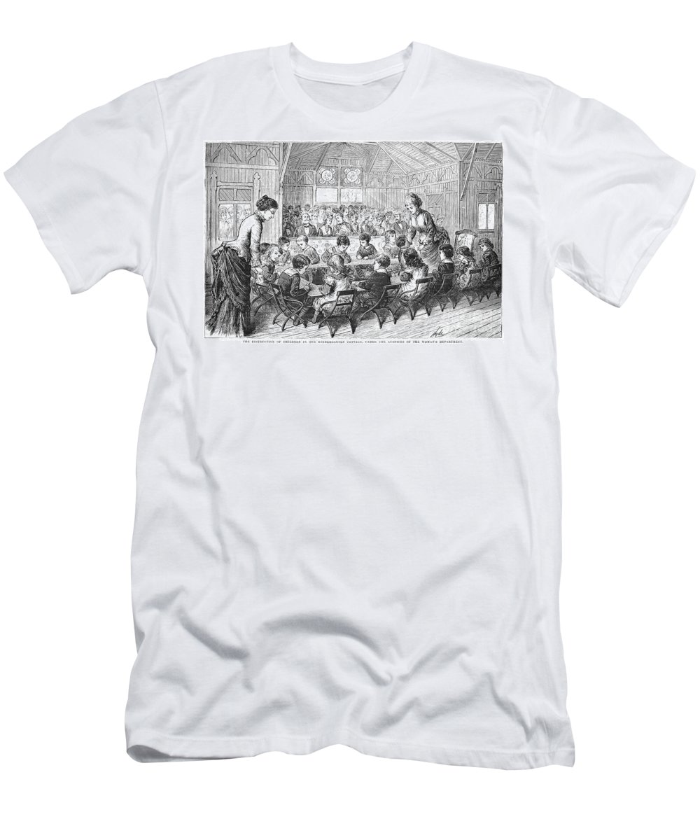 1876 Men's T-Shirt (Athletic Fit) featuring the photograph Kindergarten, 1876 by Granger