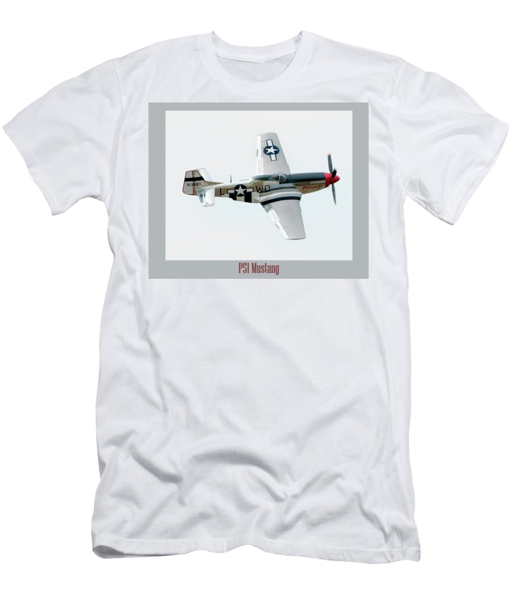 Airshow Men's T-Shirt (Athletic Fit) featuring the photograph King Of The Skies by Greg Fortier