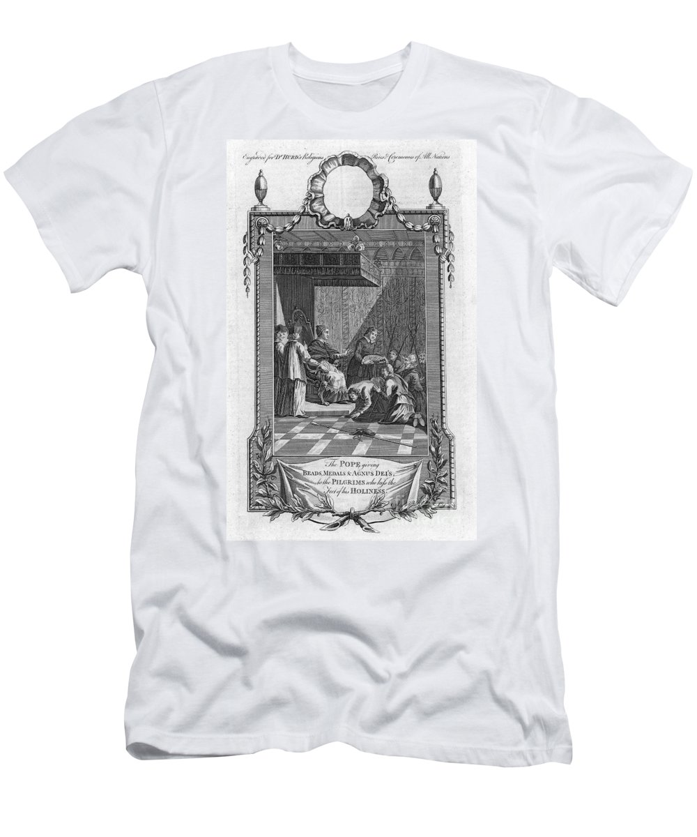 18th Century Men's T-Shirt (Athletic Fit) featuring the photograph Kissing The Popes Feet by Granger