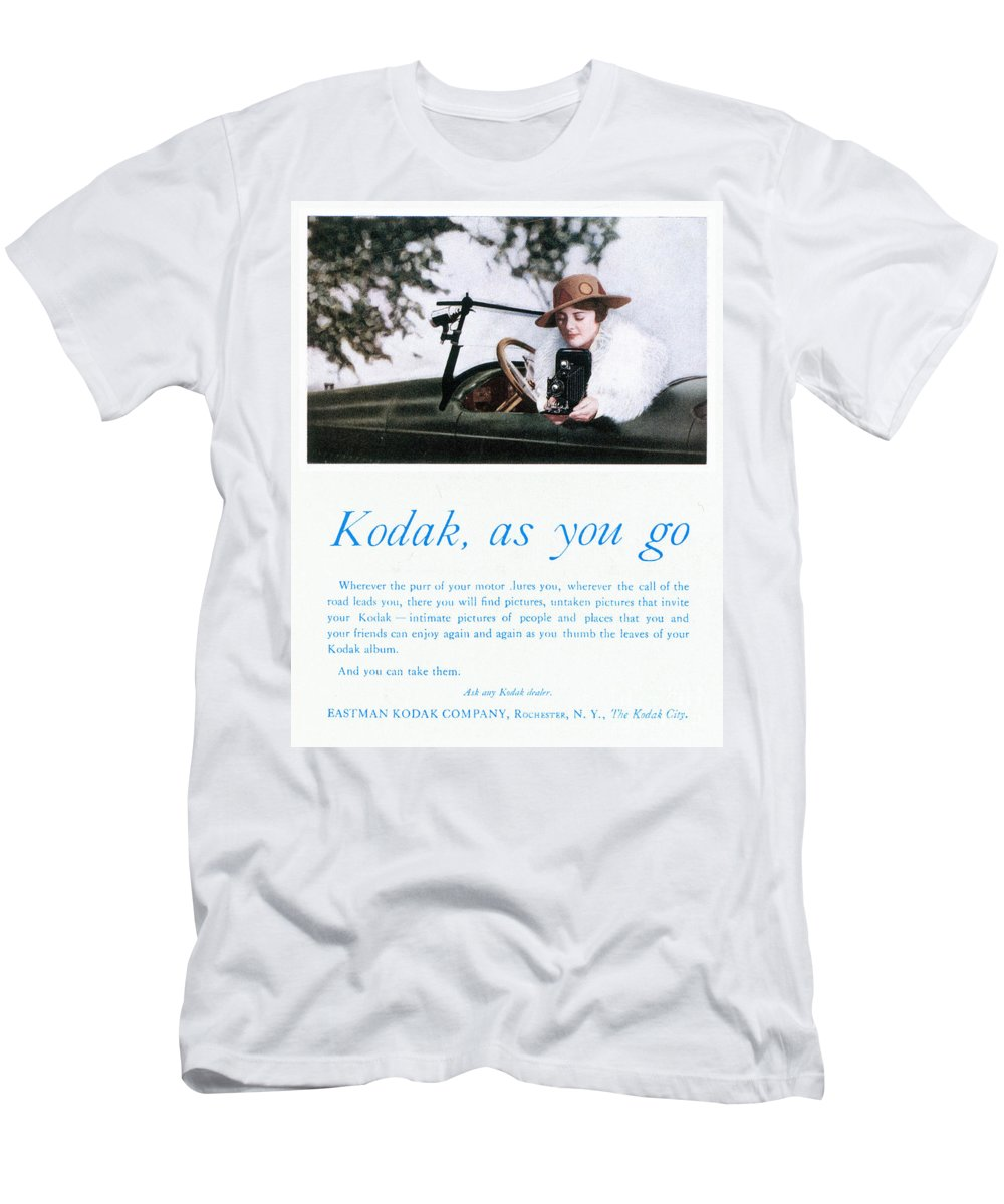 1917 Men's T-Shirt (Athletic Fit) featuring the photograph Kodak Advertisement, 1917 by Granger