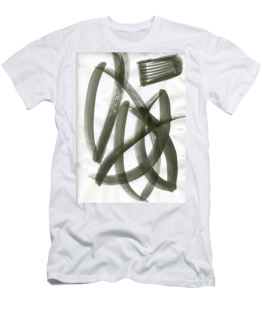 Ladder To Space Men's T-Shirt (Athletic Fit) featuring the painting Ladder To Space by Taylor Webb