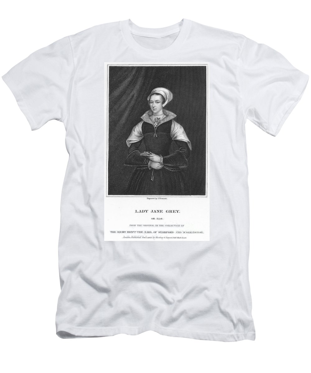 1550s Men's T-Shirt (Athletic Fit) featuring the photograph Lady Jane Grey (1537-1554) by Granger