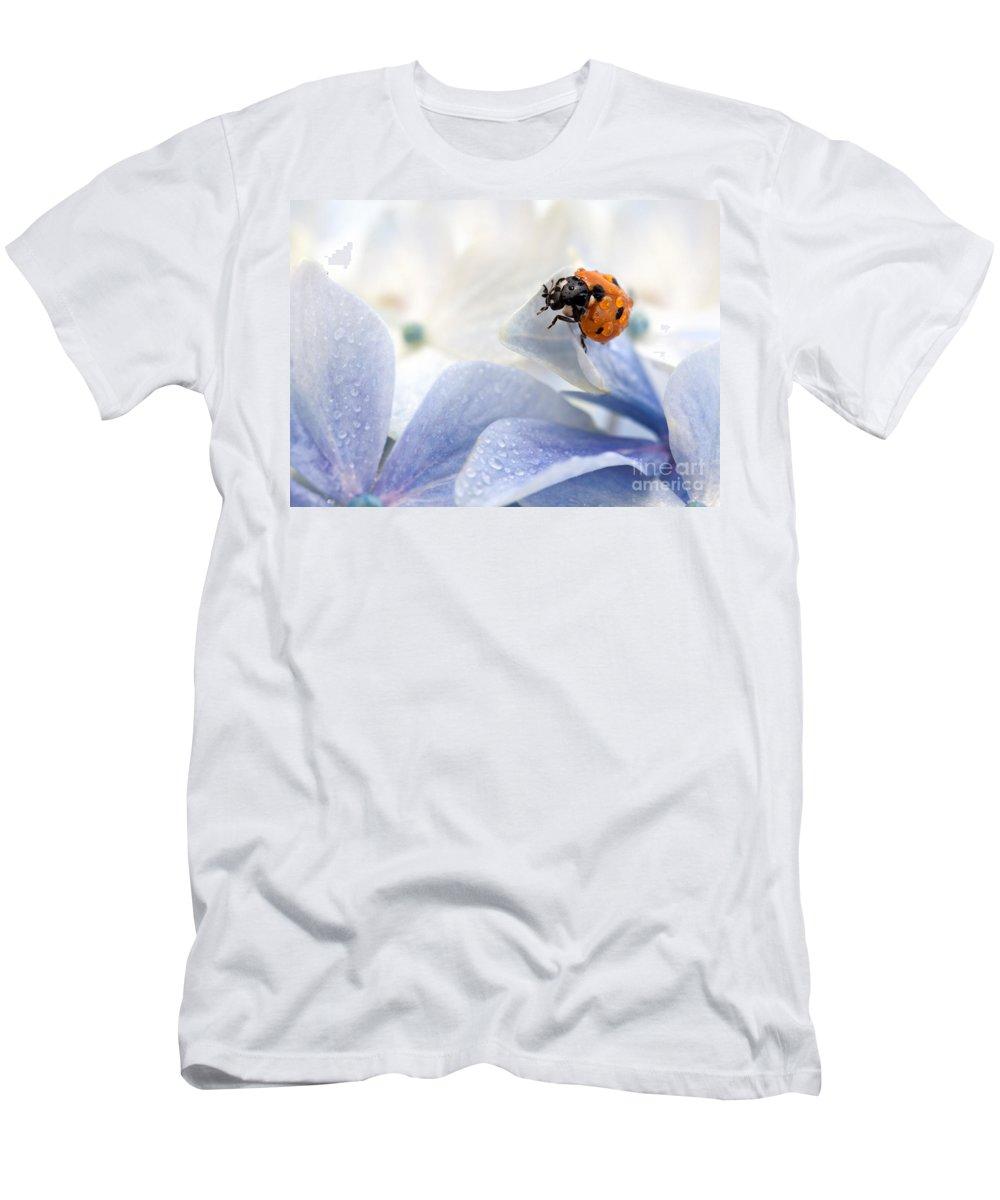 Ladybug Men's T-Shirt (Athletic Fit) featuring the photograph Ladybug by Nailia Schwarz