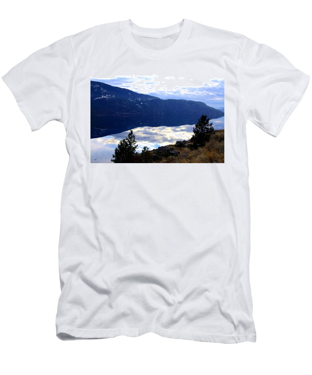 Lakeside Men's T-Shirt (Athletic Fit) featuring the photograph Lakeside Living by Will Borden