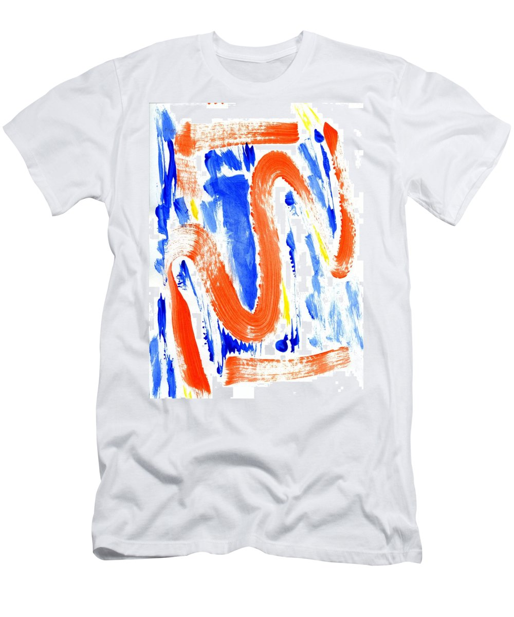 Leaving Harm Behind Men's T-Shirt (Athletic Fit) featuring the painting Leaving Harm Behind by Taylor Webb