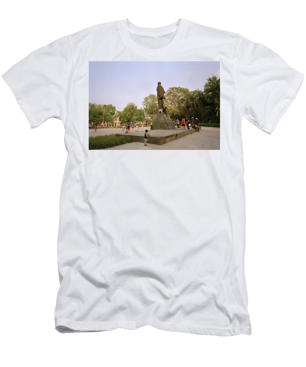 Asia Men's T-Shirt (Athletic Fit) featuring the photograph Lenin In Hanoi by Shaun Higson