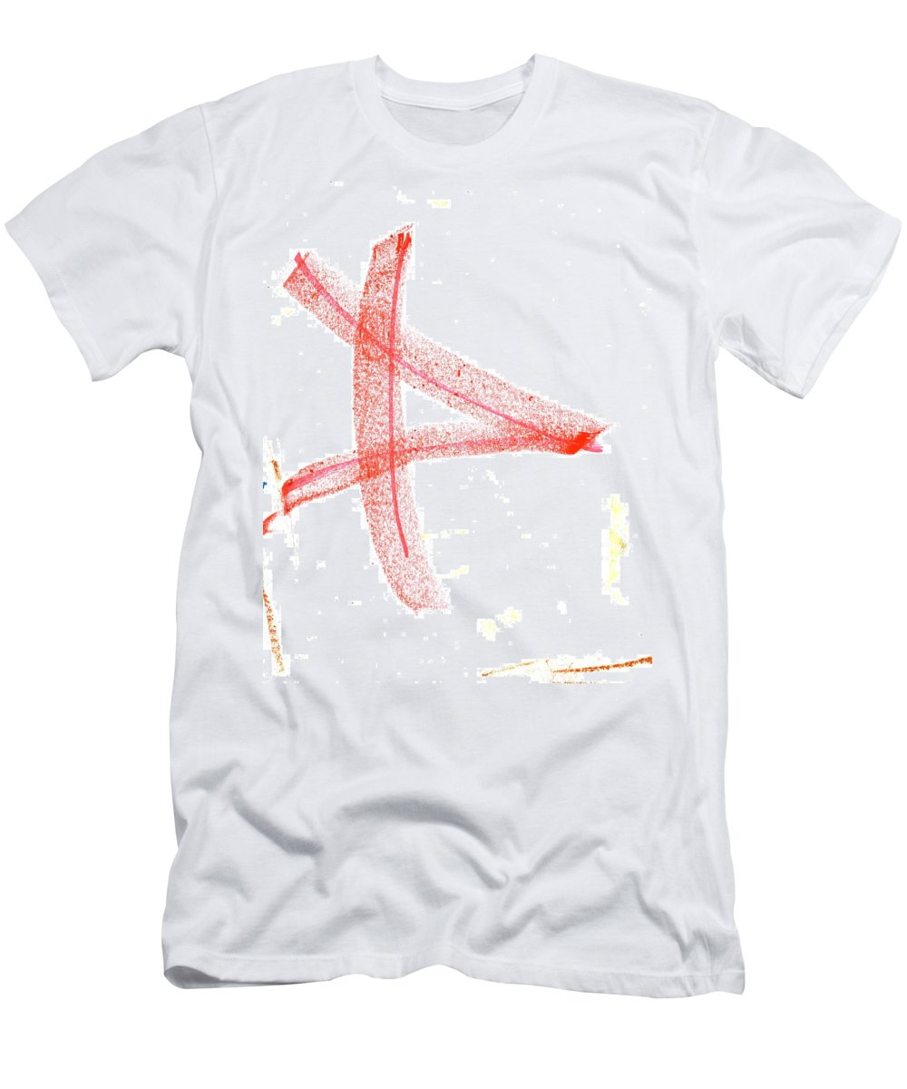 Letter 2 Men's T-Shirt (Athletic Fit) featuring the painting Letter 2 by Taylor Webb