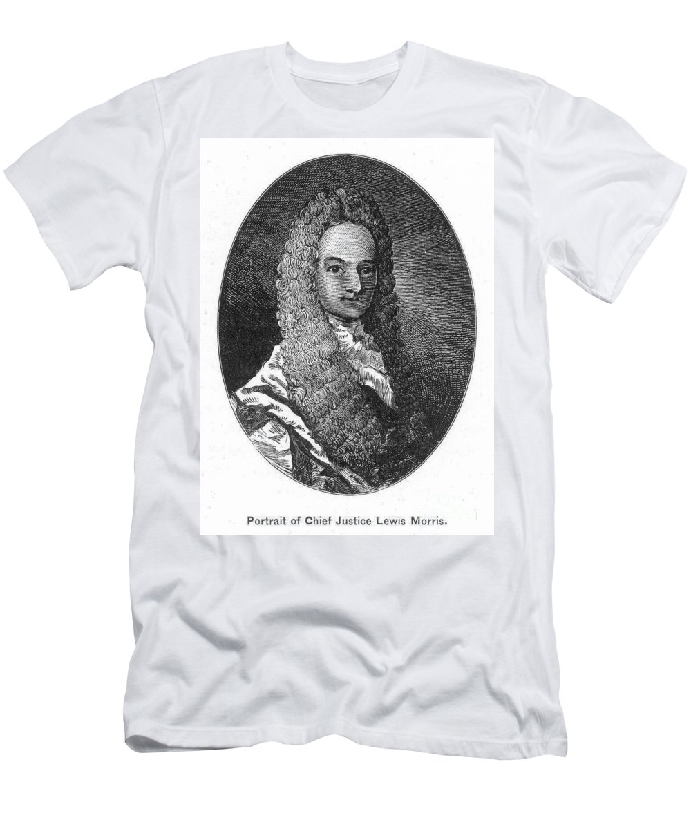 18th Century Men's T-Shirt (Athletic Fit) featuring the photograph Lewis Morris (1671-1746) by Granger