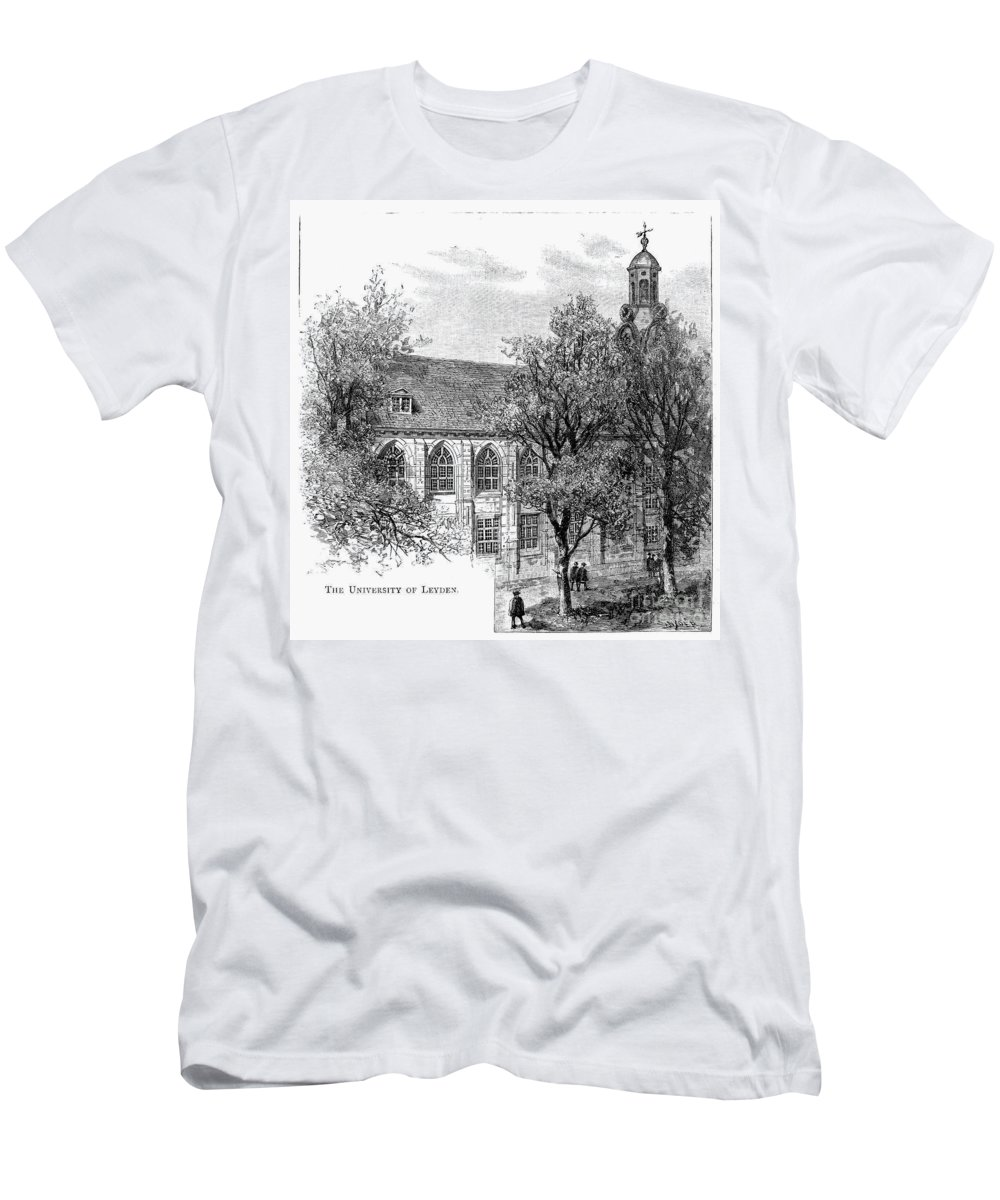 19th Century Men's T-Shirt (Athletic Fit) featuring the photograph Leyden: University by Granger