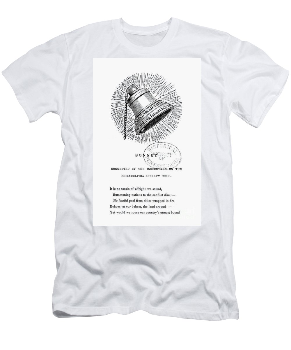 1830s Men's T-Shirt (Athletic Fit) featuring the photograph Liberty Bell, 1839 by Granger