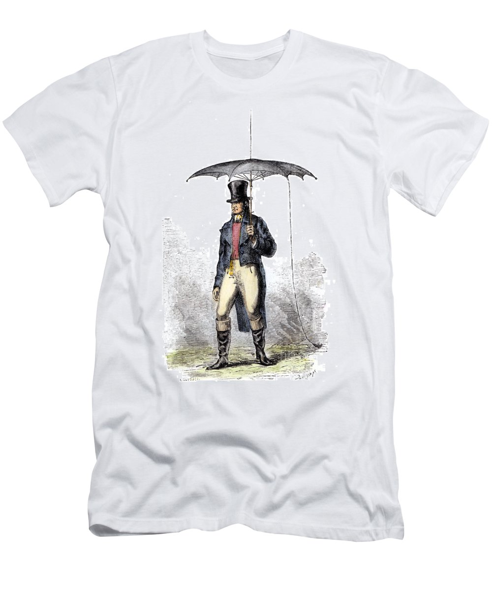 19th Century Men's T-Shirt (Athletic Fit) featuring the photograph Lightning Rod Umbrella by Granger