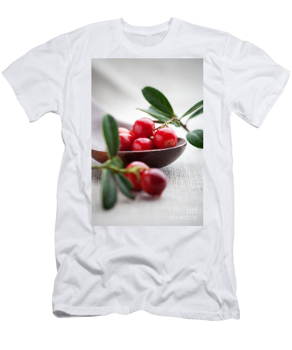 Autumn Men's T-Shirt (Athletic Fit) featuring the photograph Lingonberries by Kati Finell