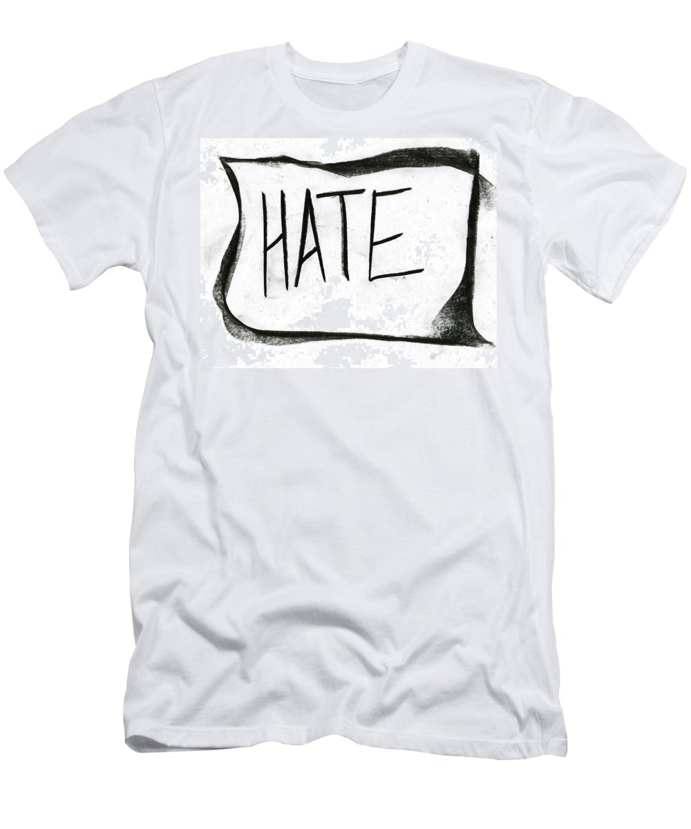 Literal Hate Men's T-Shirt (Athletic Fit) featuring the painting Literal Hate by Taylor Webb