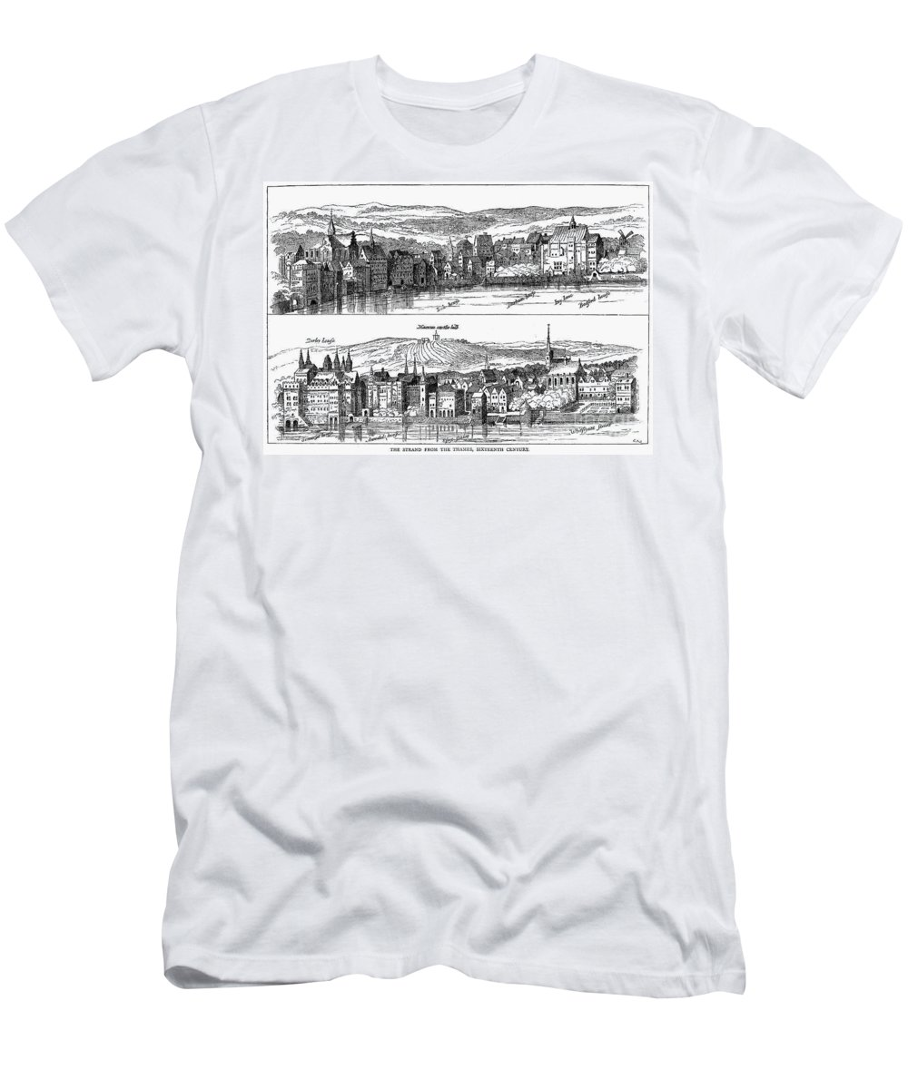 16th Century Men's T-Shirt (Athletic Fit) featuring the photograph London, 16th Century by Granger