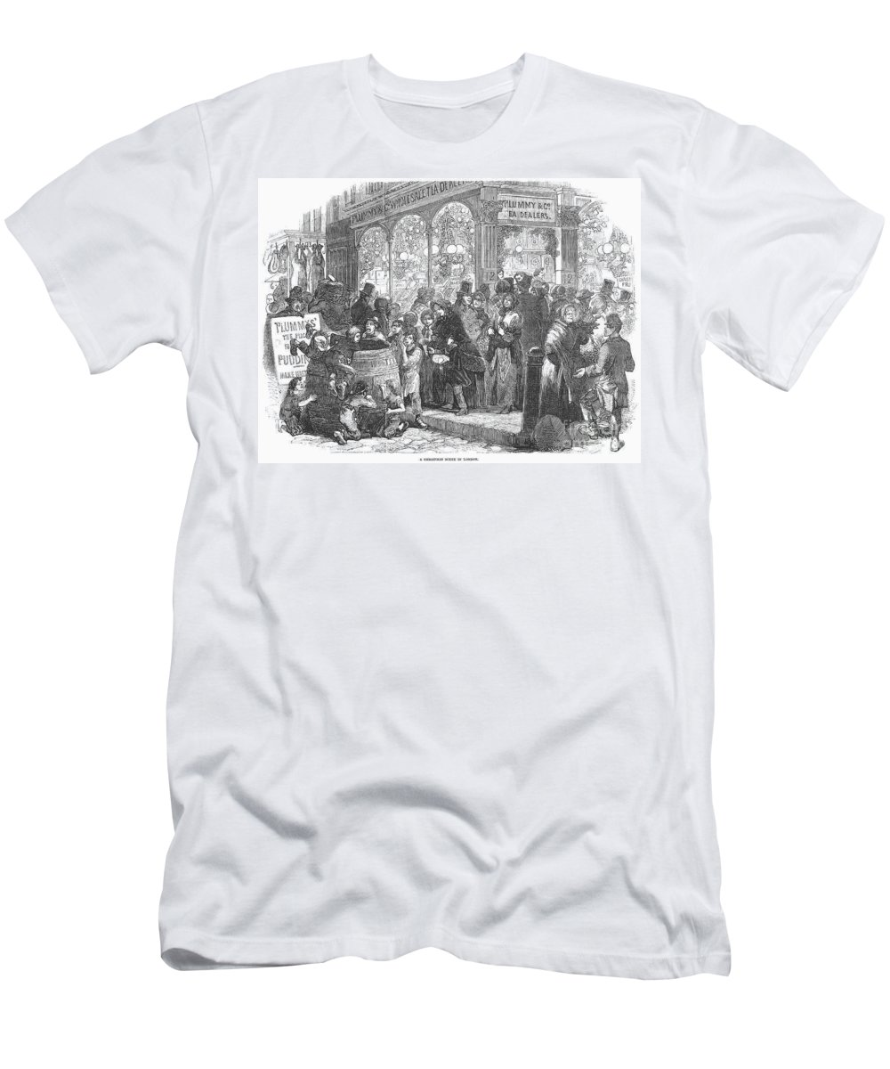 1866 Men's T-Shirt (Athletic Fit) featuring the photograph London: Christmas, 1866 by Granger