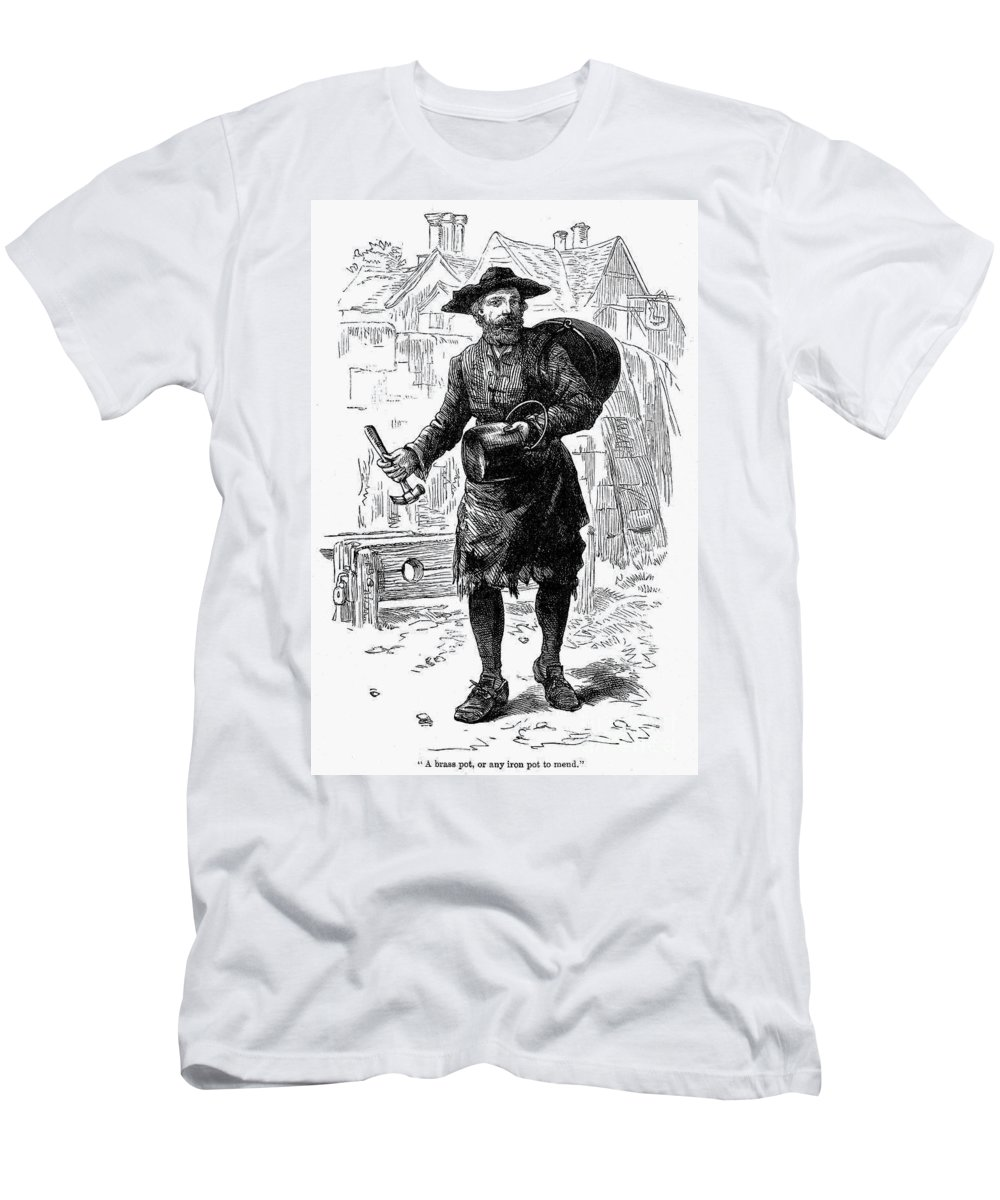 19th Century Men's T-Shirt (Athletic Fit) featuring the photograph London: Peddlar by Granger