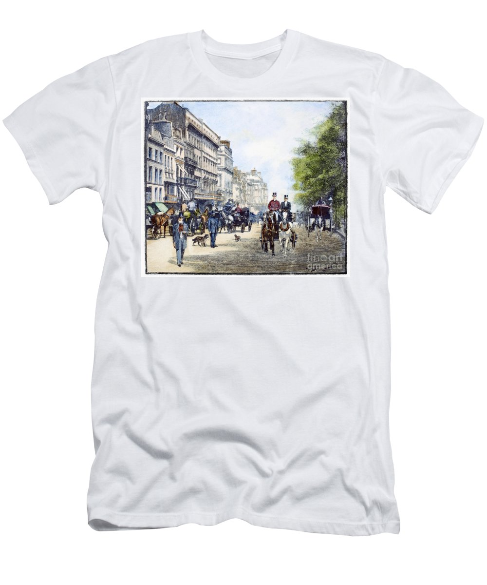 1895 Men's T-Shirt (Athletic Fit) featuring the photograph London: Piccadilly, 1895 by Granger