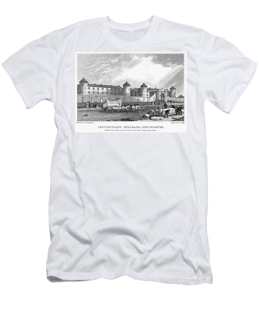 1829 Men's T-Shirt (Athletic Fit) featuring the photograph London: Prison, 1829 by Granger