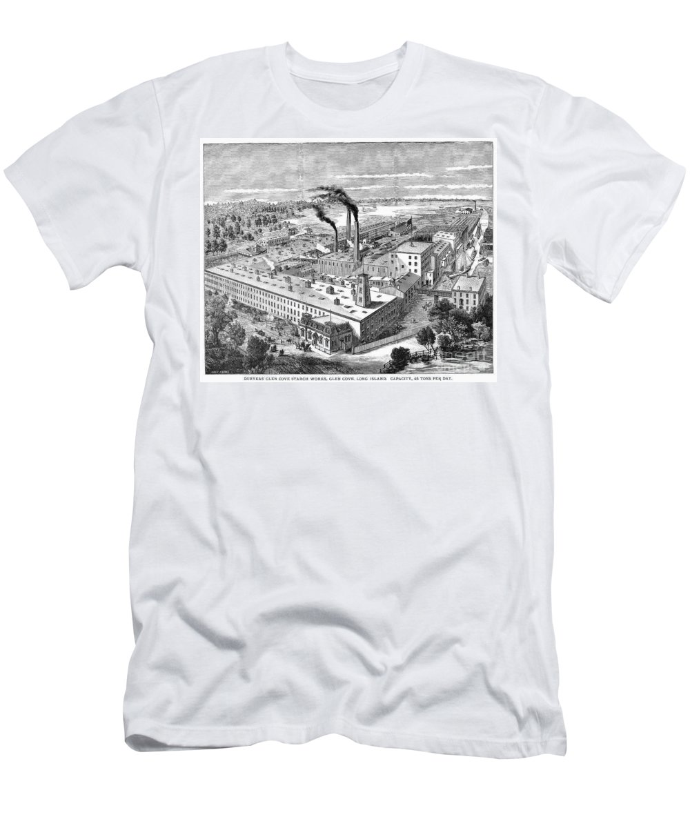 1890 Men's T-Shirt (Athletic Fit) featuring the photograph Long Island: Factory by Granger