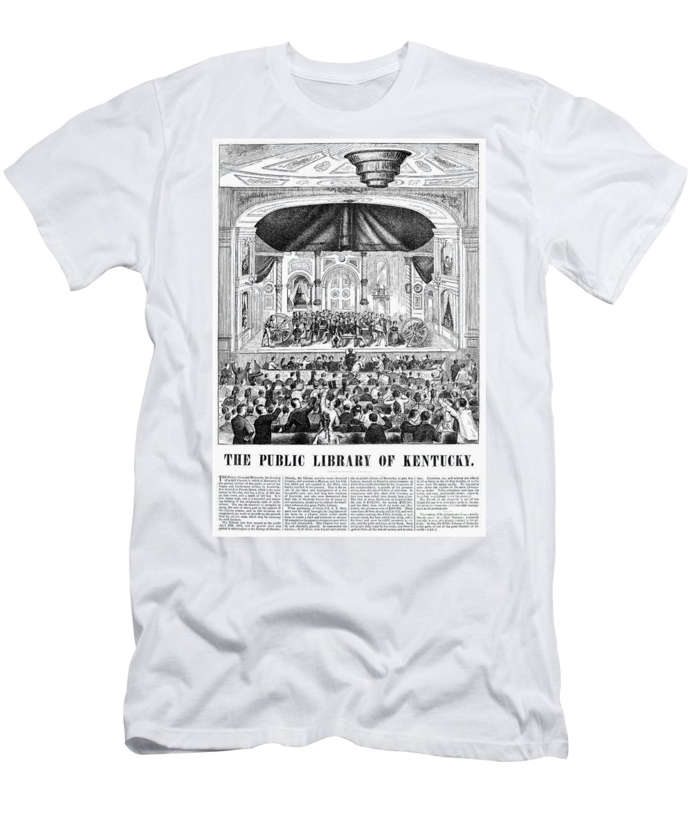 1873 Men's T-Shirt (Athletic Fit) featuring the photograph Lottery, 1873 by Granger