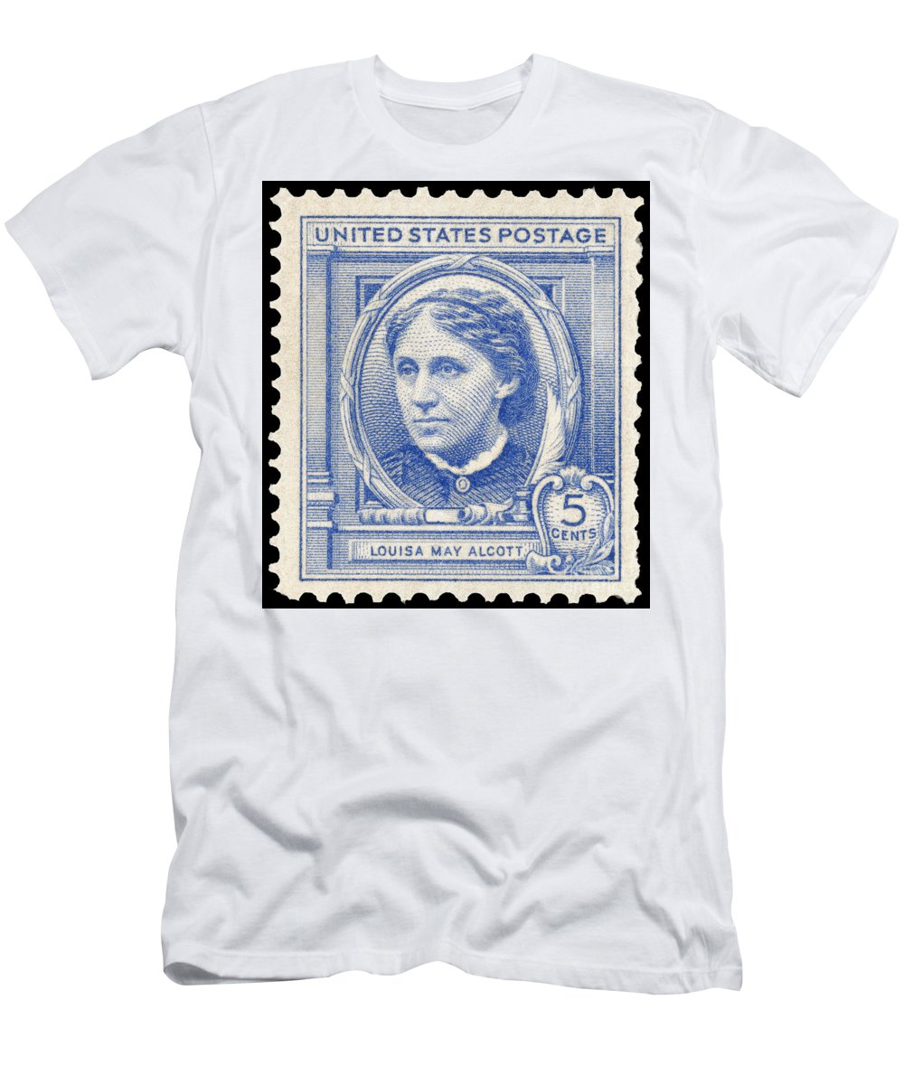 1940 Men's T-Shirt (Athletic Fit) featuring the photograph Louisa May Alcott (1832-1888) by Granger