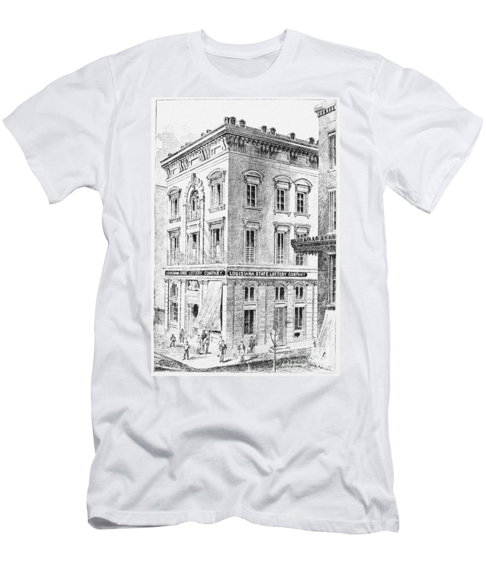 1873 Men's T-Shirt (Athletic Fit) featuring the photograph Louisiana: Lottery Office by Granger