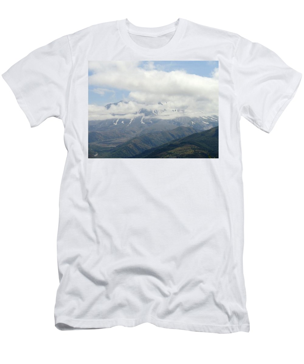 Photos Of Mt St Helens Photographs Men's T-Shirt (Athletic Fit) featuring the photograph Louwala-clough by Christy Leigh