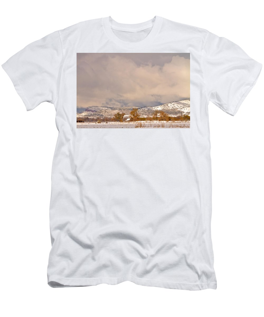 'low Clouds' Men's T-Shirt (Athletic Fit) featuring the Low Winter Storm Clouds Colorado Rocky Mountain Foothills 5 by James BO Insogna
