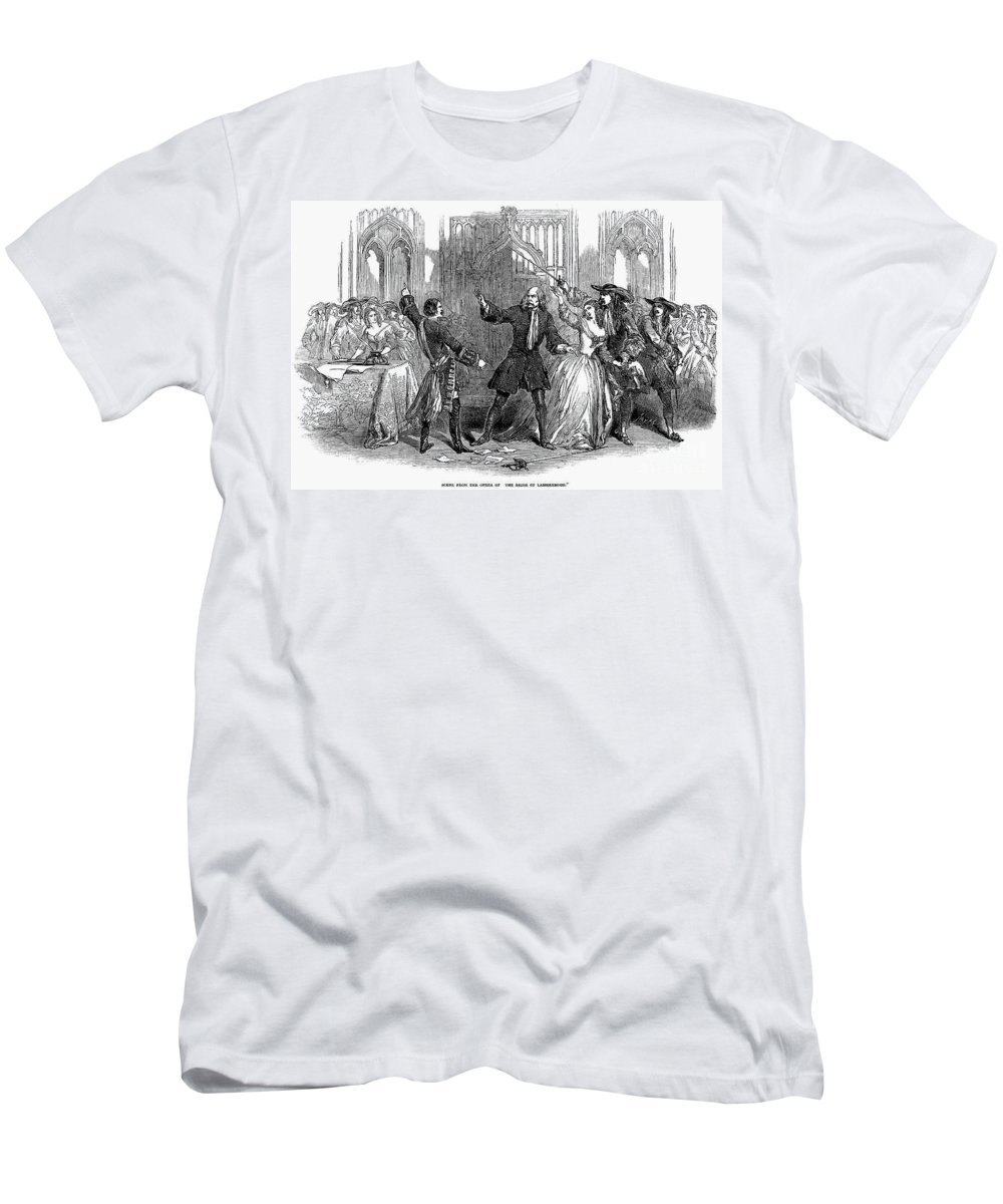 1847 Men's T-Shirt (Athletic Fit) featuring the photograph Lucia Di Lammermoor, 1847 by Granger