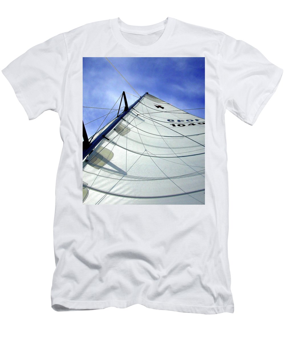 Oriental Men's T-Shirt (Athletic Fit) featuring the photograph Main Sail by Gary Adkins