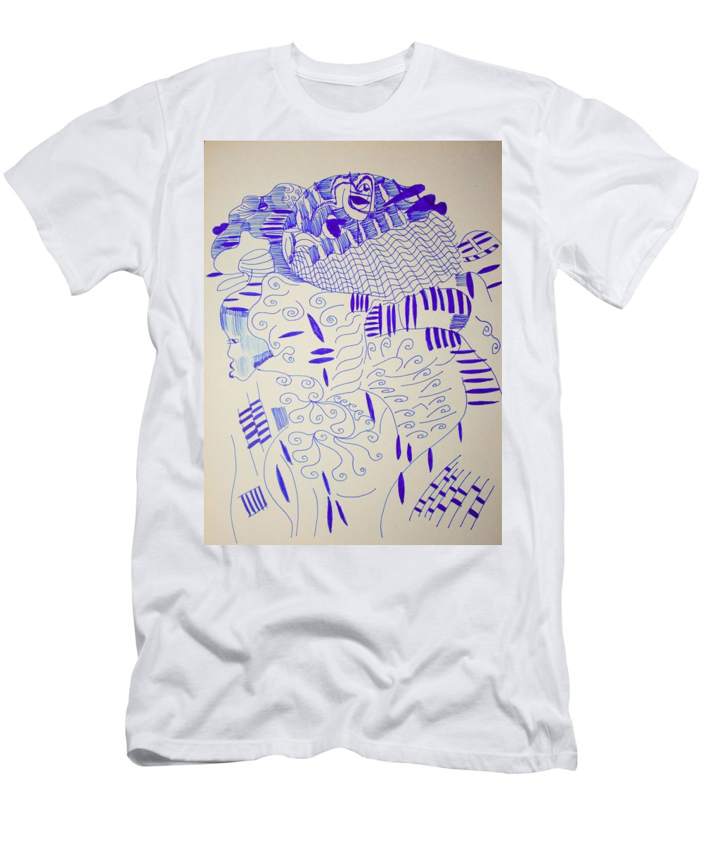 Jesus Men's T-Shirt (Athletic Fit) featuring the drawing Mama Ne Tata 4 by Gloria Ssali