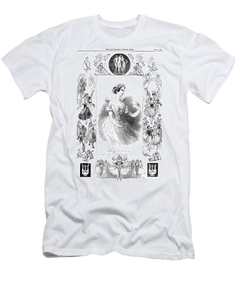 1845 Men's T-Shirt (Athletic Fit) featuring the photograph Marie Taglioni (1804-1884) by Granger